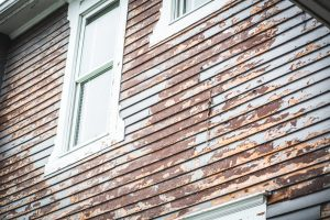 paint chipping from home siding
