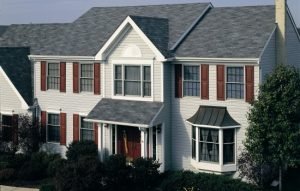 slate gray shingles on house